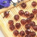 Beads, Auralescent Crystal, Crystal, Dark purple , Faceted Rounds, Diameter 6mm, 10 Beads, [ZZC232]